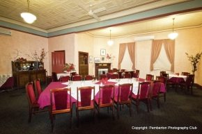 Charlies Dining Room  in the Pemberton Hotel available for business meetings